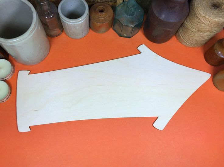 Arrow Quirky sign 34.5cm - Quirky Wooden Arrow Sign x 1