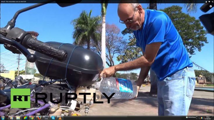 Voici une moto qui a parcourue 500 km avec un seul litre d'eau Ricardo, un Brésilien de Sao Paulo a décidé de montrer sa moto incroyable au reste du monde.