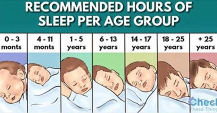 The Recommended Sleep Times According To The National Sleep Foundation | Organic Planner