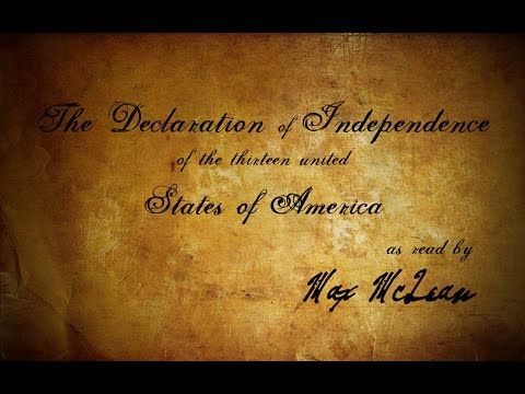 The Declaration of Independence (as read by Max McLean) - YouTube