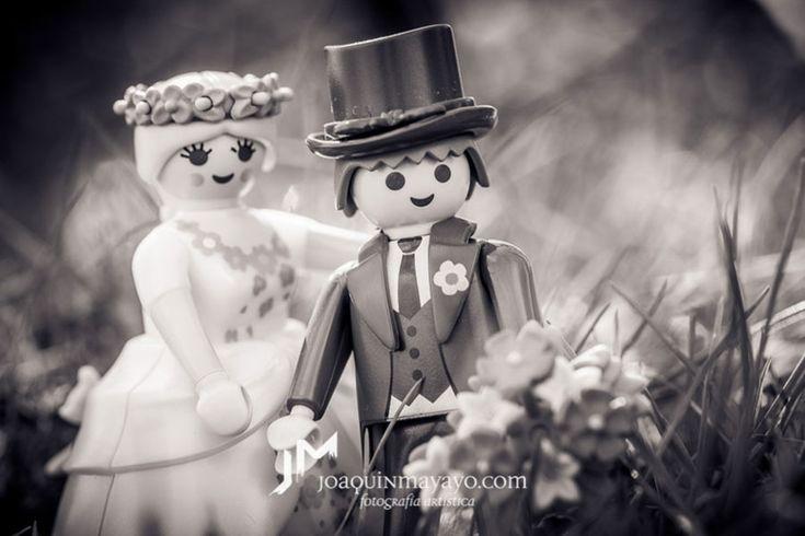 Reportaje fotográfico novios playmobil para bodas