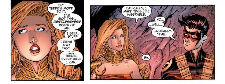 Teen Titans 19. Cassie Sandsmark. Wonder Girl. Tim Drake. Red Robin.