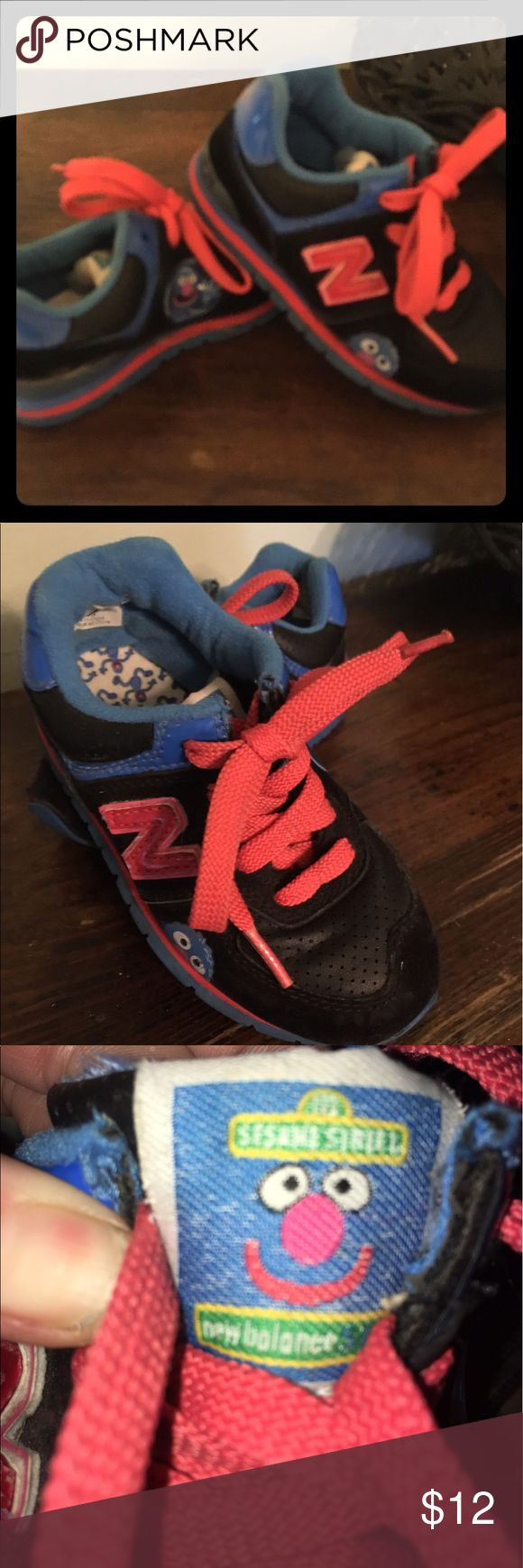 New Balance - Sesame athletic shoes Gently Used - New Balance, Sesame Street - Red & Black New Balance Shoes Sneakers
