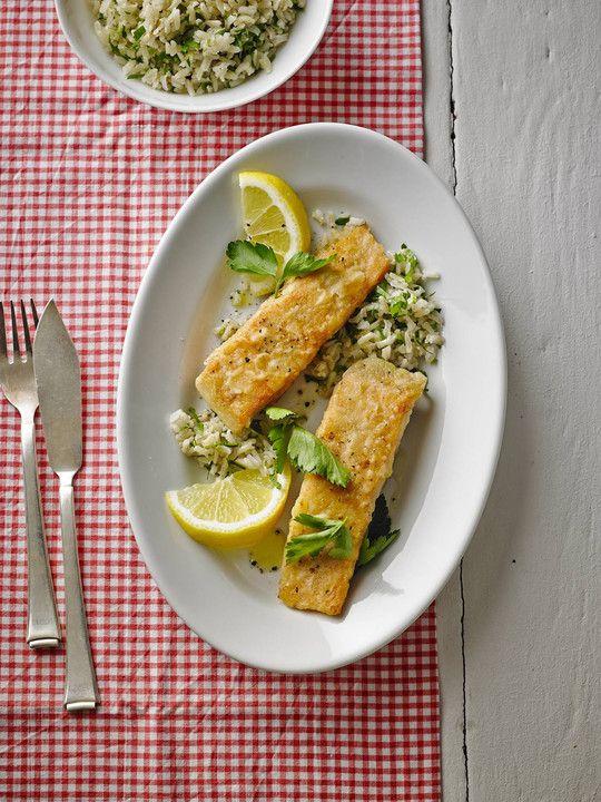Einfach und schnell: Gebratener Lachs mit Zitronenkruste