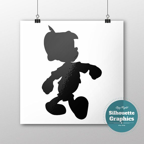 Pinocchio silhouette file svg eps disney by SilhouetteGraphics