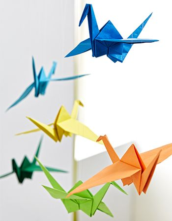 DIY - Origami-Kraniche - Anleitung - Mobile - Wohnungsdekoration I blog.moemax.at