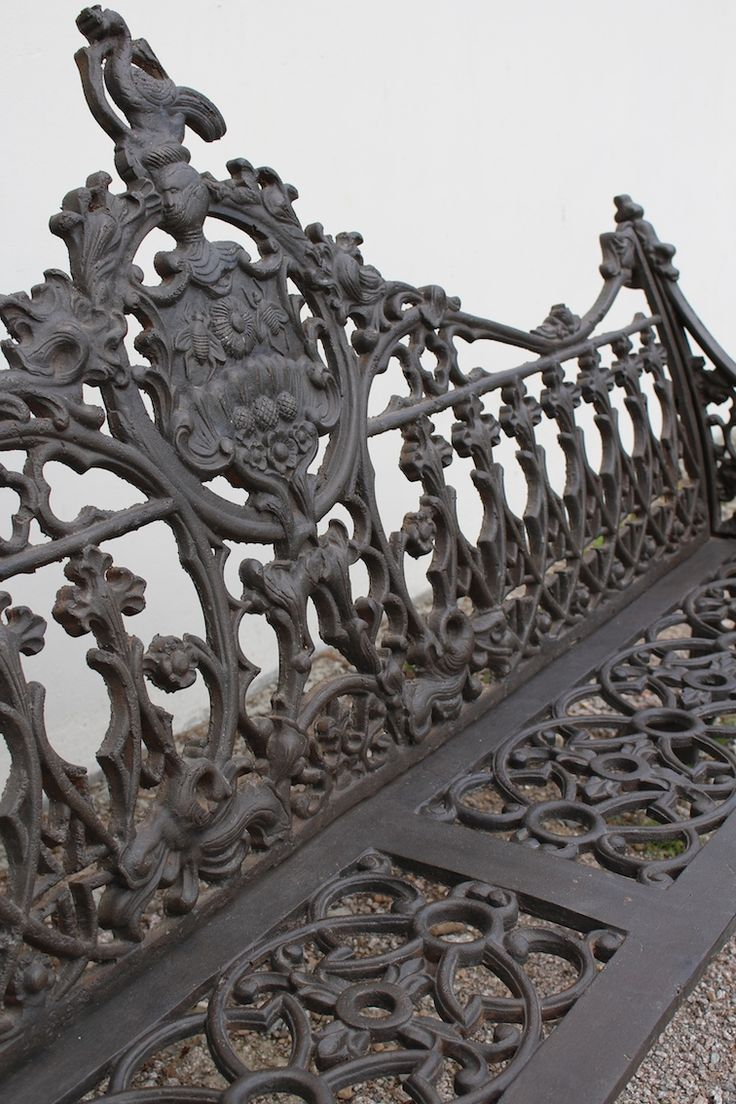 Elaborate Wrought Iron Bench