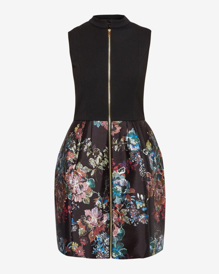 Antique Botanical full dress - Black | Love Ted | Ted Baker UK