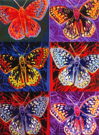 Andy Warhol Butterfly Painting | ... . Andy Warhol - Endangered Species Butterflies Magnet oil painting