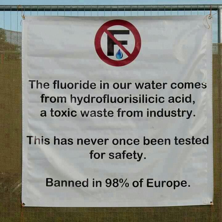 fluoridating well water Here is my tried and true method of removing the essence robbing, communist fluoride from your water more links on fluoridation general ripper explains the.