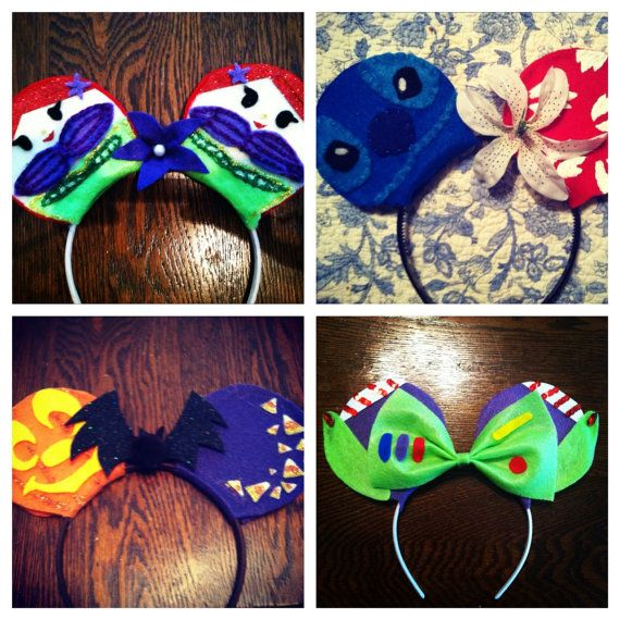 Items similar to Past Made-to-Order Ears.  Lilo and Stitch, Toy Story and Little Mermaid on Etsy