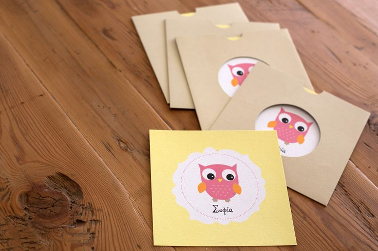 owl | christening invitation