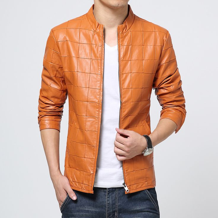Find More Leather & Suede Information about High Quality Pu Leather Jacket Men Fashion 2016 Autumn New Motorcycle Jacket Men Plus Size Solid Plaid Men's Jackets Coats Man,High Quality jacket size chart for men,China jacket leather Suppliers, Cheap jackets for men leather from Eric's on Aliexpress.com