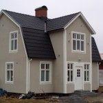 Nyrappad husfasad i Alingsås