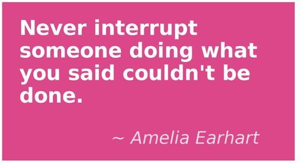 Don't interrupt...