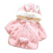 Bebê recém-nascido bebê casaco menina casaco de veludo vestuário tecido infantil encantador casaco arco bebê menina infantil casaco de inverno nova chegada(China (Mainland))