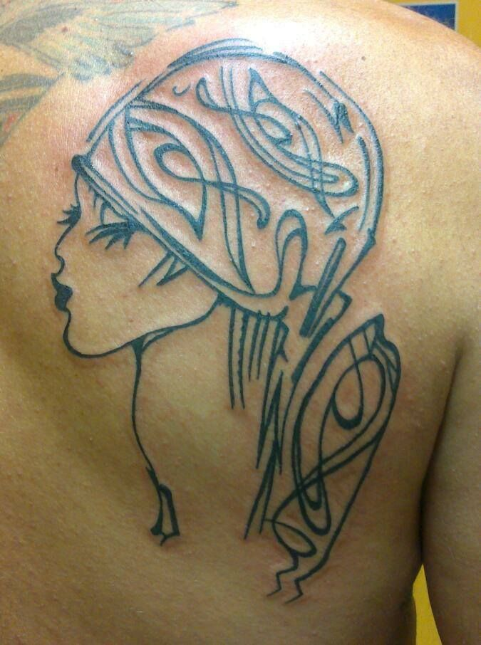 79 best images about tatouages filou noir et blanc on - Tatouage trait bras ...