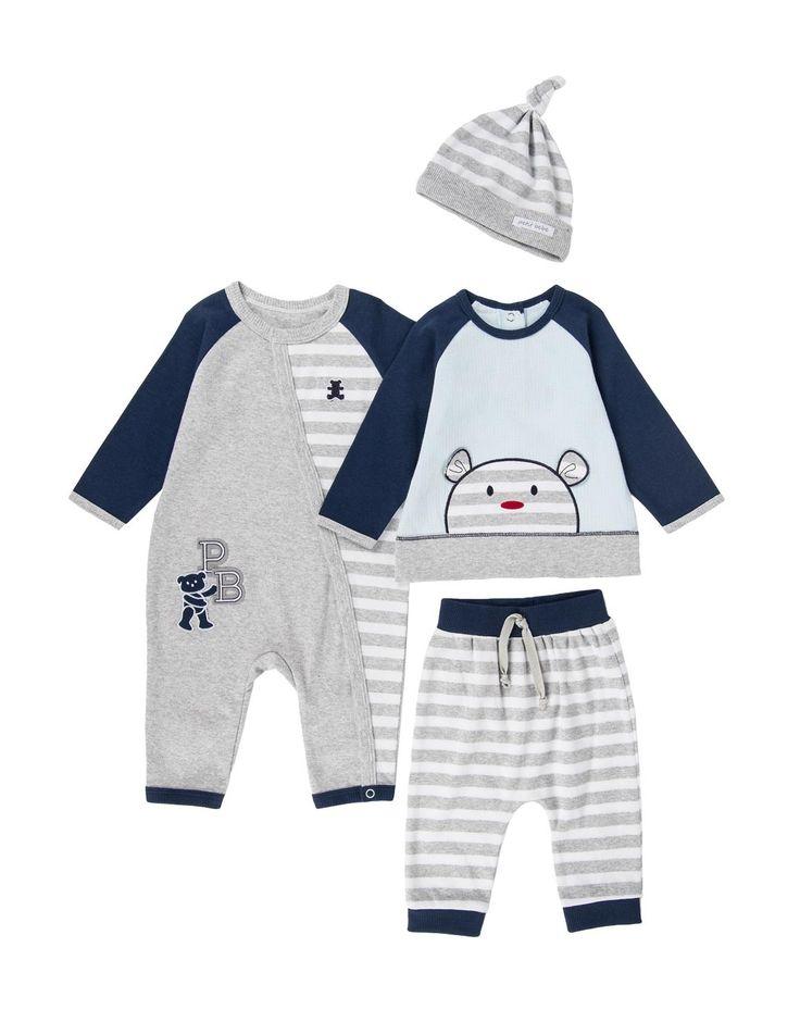 'Teddy' Cotton Sleepsuit Set