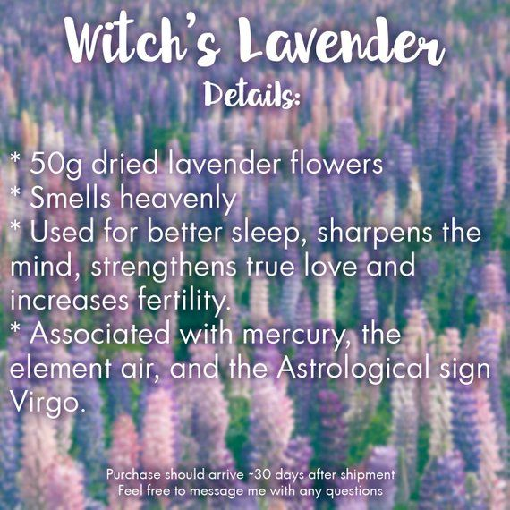 Witch's Lavender for Lavender Spells 50g / Spells for Sleep
