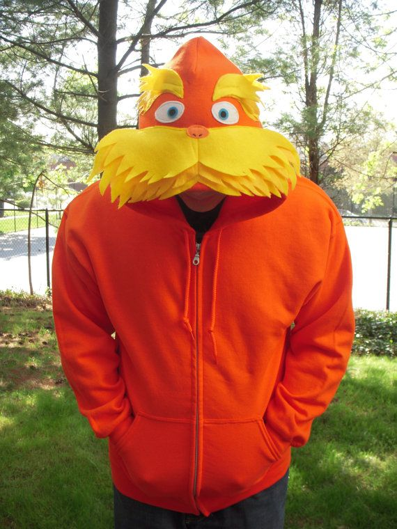 LORAX inspired Hoodie for Adult  Dr. Seuss cartoon by PoppityPop, $57.00
