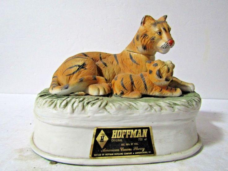 RARE Hoffman Asian Tigers Decanter Not Mass Produced