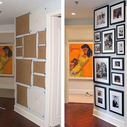 Как повесить на стену фотографии ровно и красиво. С первого раза