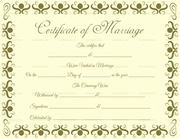 20 Microsoft Office Marriage Certificate Template Dannybarrantes Template Certificate Templates Birth Certificate Template Marriage Certificate