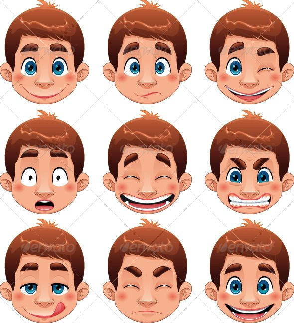 Character Design Little Boy : Boy expressions funny guy hair and eyes