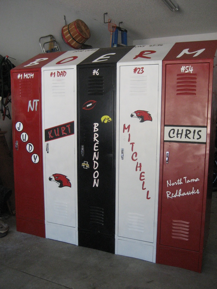 Old School Lockers Painted For Garage Storage Getting It