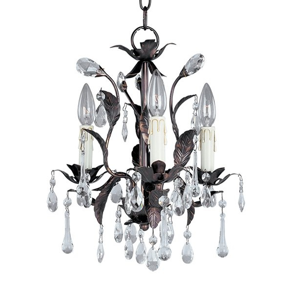 grove collection romantic three light chandelier at lamps plus - Shabby Chic Chandelier