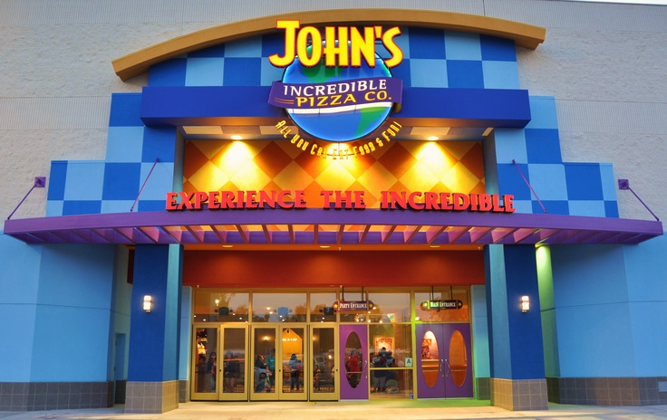 John's Incredible Pizza Company San Diego - located inside Westfield Plaza Bonita Mall near Macy's    3010 Plaza Bonita Road  National City, CA 91950  (619) 472-5555  www.johnspizza.com