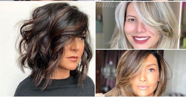 Pricheski Za Sredna Dlzhina Na Kosata S Breton 2020 Za Zheni Na 40 50 Godini Efektivni Idei In 2020 Hair Styles Beauty Long Hair Styles