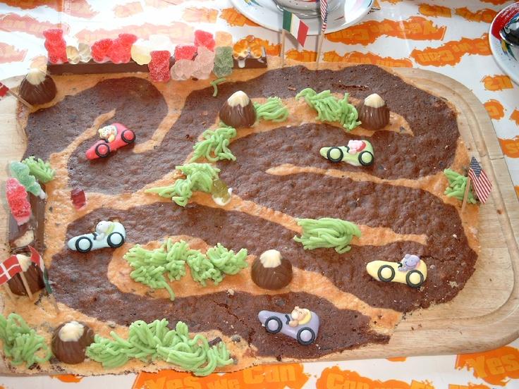 Kuchen-Rennstrecke