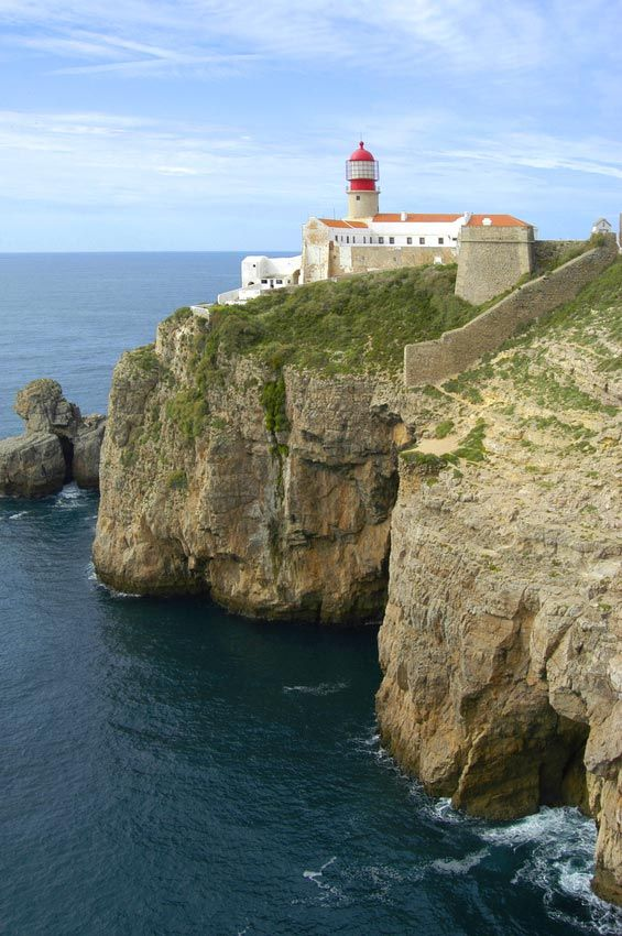 Cabo Sao Vicente Lighthouse near Sagres - Portugal