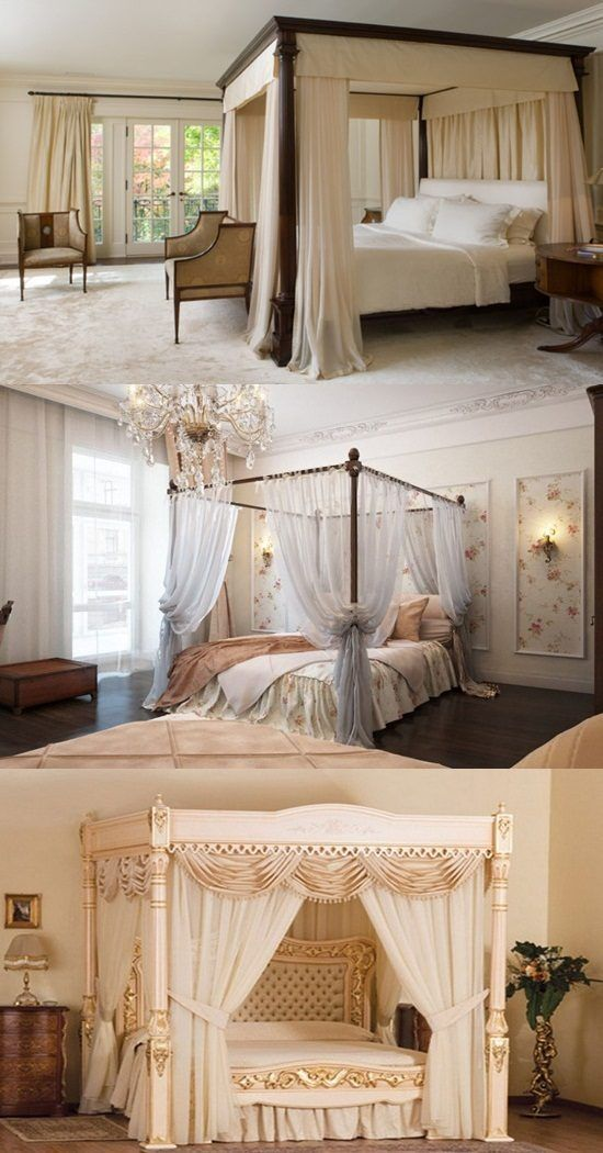 Every girl dreams to be a princess, canopy bed drapes can make it come true