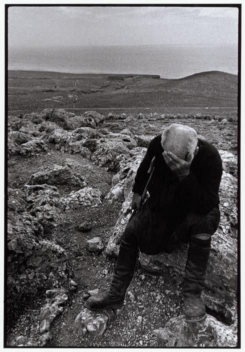 """Constantine """"Costa"""" Manos (1934 South Carolina): Greece. Crete. Sfakia. 1964. Shepherd. """"A Greek Portfolio"""" p.36. © Costa Manos/Magnum Photos"""