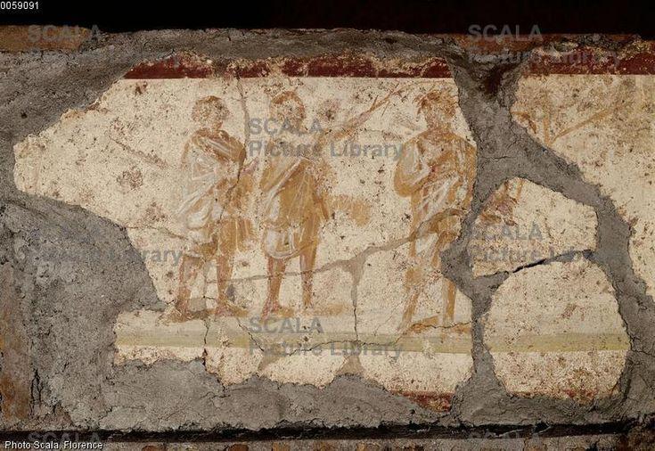 Catacombe di Pretestato, Roma. Gli affreschi del III secolo. Incoronazione di spine