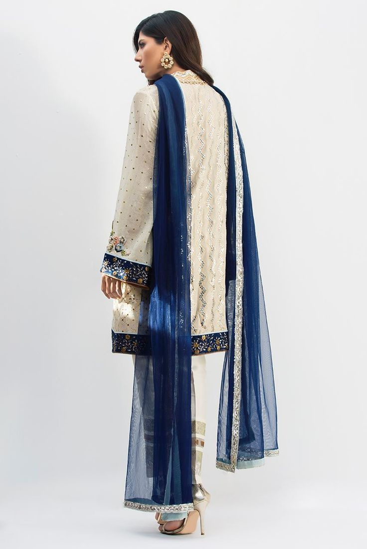 Picture of Cotton Embroidered Kamdani Shirt