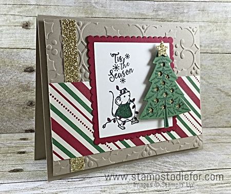 Sunday Sketches SS006 Stampin Up Merry Mice Stamp Set Christmas Card www.stampstodiefor.com