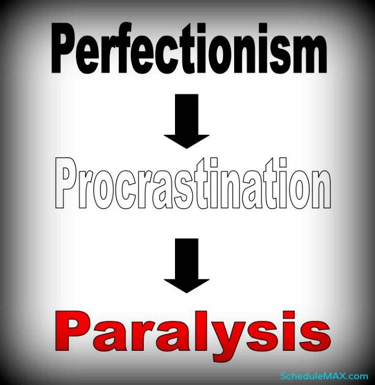 Perfectionism leads to procrastination which leads to paralysis...and the cycle continues #EscapePerfectionism
