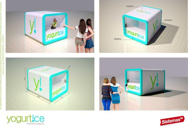 Diseño de #kiosko para Yogurt!ce realizado por @sistemastm  #design #interior