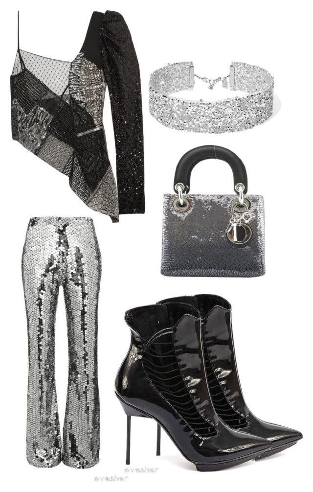 Untitled #657 by cathatin on Polyvore featuring polyvore, fashion, style, Yves Saint Laurent, Filles à papa, Giorgio Armani, Christian Dior, DANNIJO and clothing