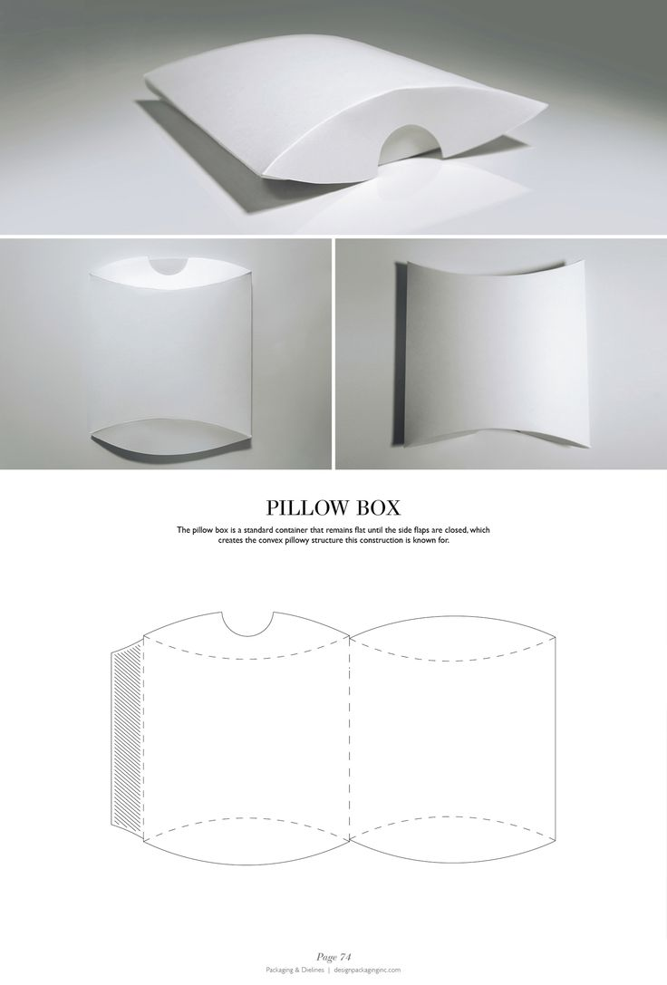 Pillow Box - Packaging & Dielines: The Designer's Book of Packaging Dielines