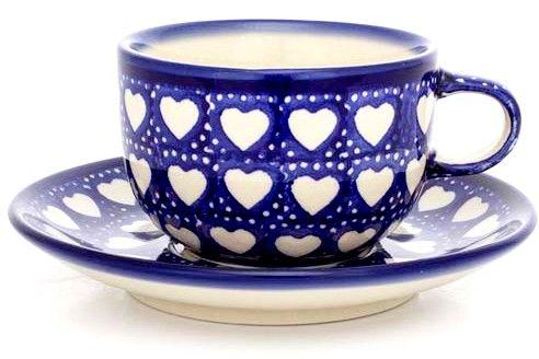 Bunzlauer Keramik Tasse - Herzen  Polish Pottery cup <3 ♥ HomeMode.de
