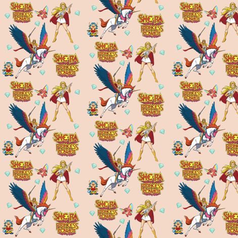 She-Ra fabric by lotses-of-foxes on Spoonflower - custom fabric