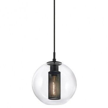 nice industrial take on a pendant with a glass shade.  Probably more for mood than for task light