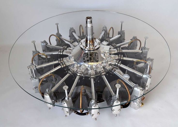 Lycoming radial engine coffee table - Table a caff moteur radial Lycoming  - Tavolo da caff