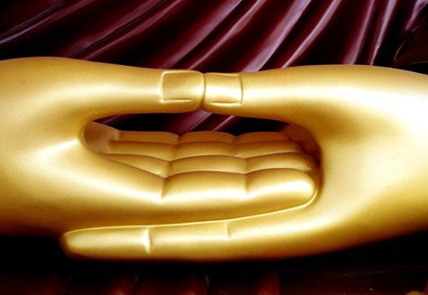 Hand Position for Meditating , Left over Right , Thumbs barely touching: Buddha Hands Mudra, Buddha Mudra, Buddha Peace, Mudra Hands, Buddha Lov, Beautiful Buddha, Buddha Zen, Golden Hands, Buddhism Buddha