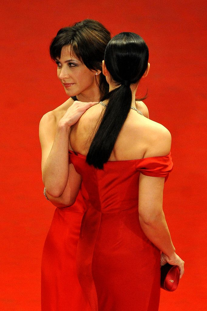 Sophie Marceau and Monica Bellucci attend the Don't Look Back Premiere held at the Palais Des Festival during the 62nd International Cannes Film Festival on May 16, 2009 in Cannes, France.