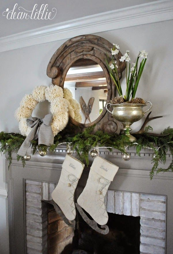 The Last of the Christmas Decorating (Switching up the Mantel)  by Dear Lillie---2014.  Visit blog for a complete resource list.
